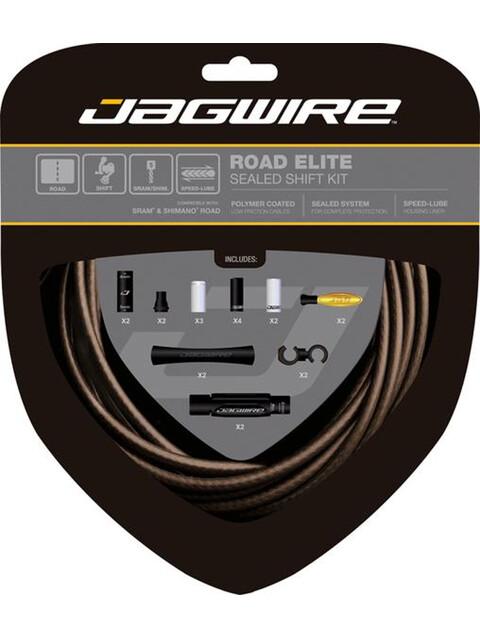Jagwire Road Elite Schaltzugset sealed kit mattschwarz